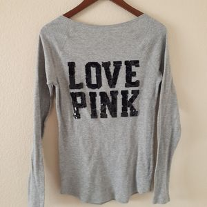 Pink Sequin Love Pink Thermal